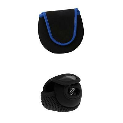 2Pcs Fly Fishing Reel Cover Baitcasting Reel Bag Protector Storage Holder
