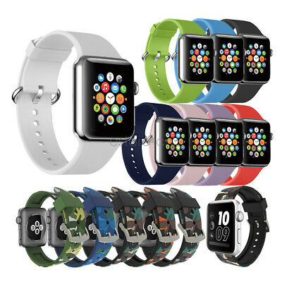 Replacement Sports Silicon Watch Bracelet Strap For Apple Watch Series 4 3 2