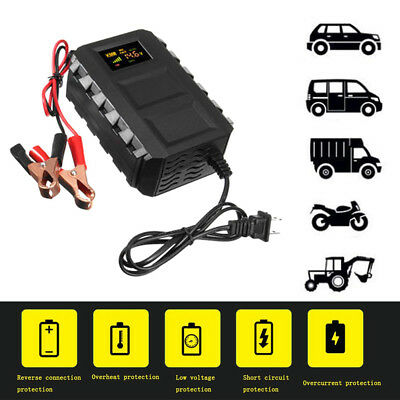Intelligent 12V Auto Car Motorcycle Automobile Battery Lead Acid Battery Charger
