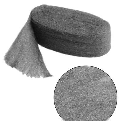 Grade 0000 Steel Wire Wool 3.3m Wrap for Polishing Cleaning Remover Non Crumble