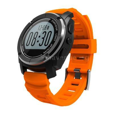 GPS Outdoor Digital Running Smart Sports Watch Heart Rate Monitor Water F7I8
