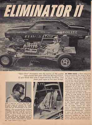 1967 Mercury Cyclone 427 Funny Car Don Nicholson ~ Original 3-Page Article / Ad