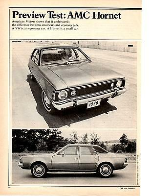 1970 Amc Hornet 304 Sst  ~  Great Original 3-Page Preview Test / Article / Ad