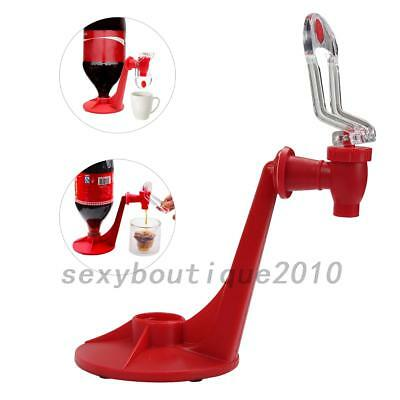 Magic Tap Saver Soda Dispenser Coke Fizzy Soft Drink Dispenser Beverage Red