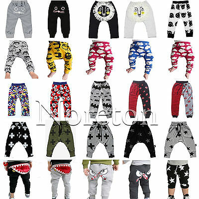Fashion Baby Boys Girl Toddler Harem Pants Trousers Bottoms Leggings Jogger AU