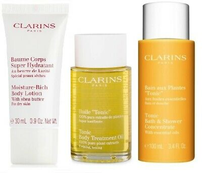 Clarins Tonic Body Treatment Oil set - new - value $107