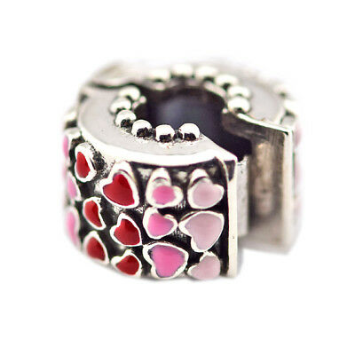 925 Sterling Silver Jewelry Burst of Love Clip, Mixed Enamel Original Charms Bea