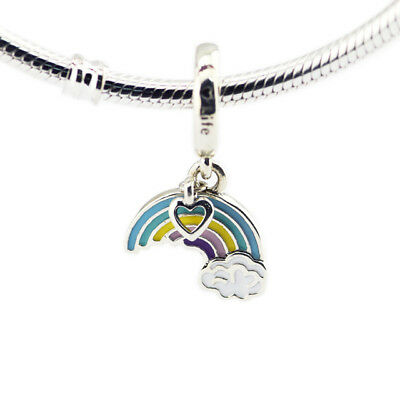 CKK Mixed Enamel Charm Authentic 925 Sterling Rainbow Of Love Silver Beads for J