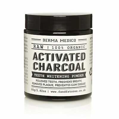 Activated Charcoal Natural Teeth Whitening Powder by Derma Medico 80ML / GR