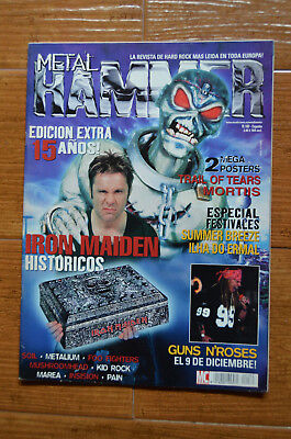 Metal Hammer 15 Years Magazine Spain 180 November 2002 Iron Maiden, Guns n Roses