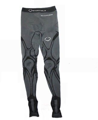 Zimco Mens Long Compression Recovery Base Layer Skin Tights//Pant White