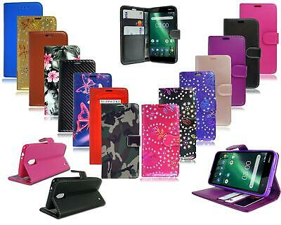 For Nokia 1 New 100% Genuine Black Pink Premium Leather Wallet Phone Case Cover