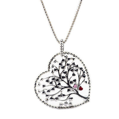 Tree of Love Necklace 100% 925 Sterling Silver Mixed Enamel Necklaces Pendant fo