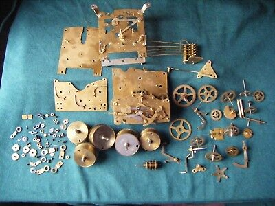 Job Lot CLOCK PARTS mainly Smith's two train clock and Haller Westminster clock