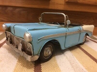 Convertible Coupe Toy Car Shop Chevy Coke Gas Oil Vintage Style Bel Air Decor