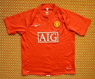 ab152f274b7 2007 - 2009 Manchester United Home red Football Shirt by Nike