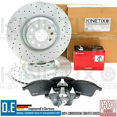 For Audi S3 2.0 QUATTRO TFSI 3.2 8P front drilled brake discs brembo pads 345mm
