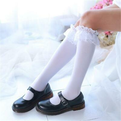 Womens Lace Over Knee Adult Vintage Stockings Lolita Casual Cosplay Long Socks