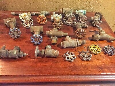 Lot of Steampunk Art Craft Parts Water Valves, Pipes, Faucets, Valve Handles