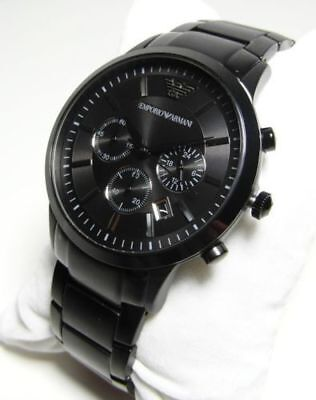 New Genuine Emporio Armani Ar2453 Black Dial Ion Plated 41Mm Case Mens Watch Uk