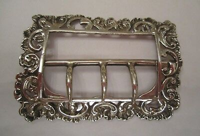 19th Century Antique French White Metal Buckle silver colour