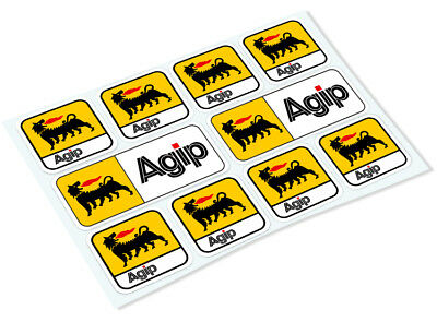 AGIP STICKER SHEET Classic Retro Car Motorcycle Decals Stickers