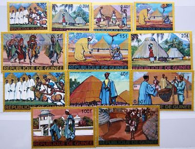 GUINEA 1968 468-79 504-11 C101-04 african Legends Fairy Tales Märchen MNH