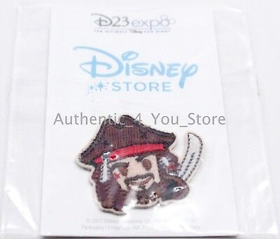 2017 D23 Expo Disney Store Pirates of Caribbean Captain Jack Sparrow Emoji Patch