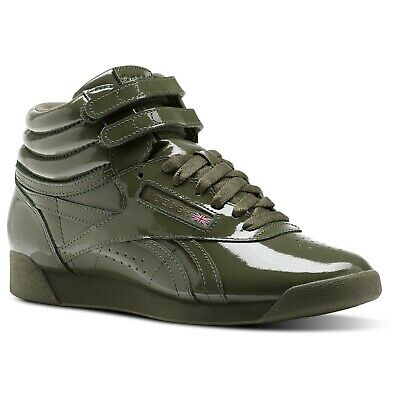 8742a97bf091 Like us on Facebook ·  CN2823  Womens Reebok Freestyle HI Patent Classic  Sneaker - Hunter Green