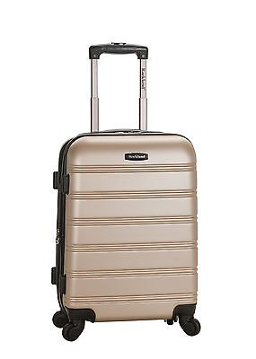 "Melbourne 20"" Expandable Carry On Hard Luggage ABS - Champagne"