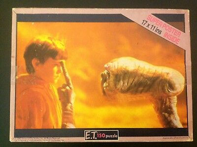 E.T The Extra Terrestrial 150 Piece Jigsaw Puzzle With Elliot Vintage