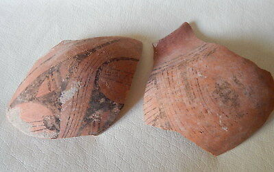 Neolithic Pottery Shards. Ukrainian finds.