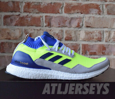 sports shoes 6cc16 1f4ae Adidas Ultra Boost Mid Prototype Solar Yellow Blue White Ultraboost BD7399