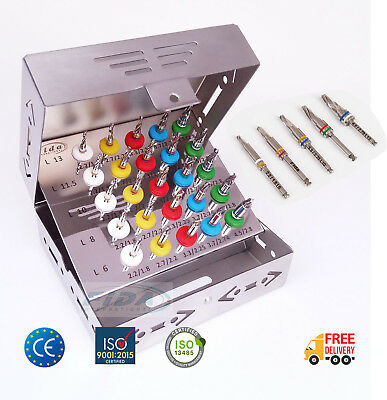 CE Certified 25 Pcs Dental Implant Conical Drill Kit with Stopper