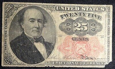 1874 25 Cent US Fractional Currency F-1308 Fifth Issue