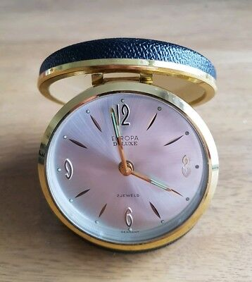 Vintage. Europa. Deluxe. Travel Alarm Clock. Made in Germany.