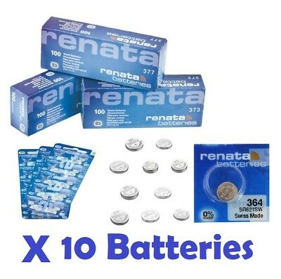 10 X Renata Watch Battery - Swiss Made - Joblot - Silver Oxide Renata Batteries