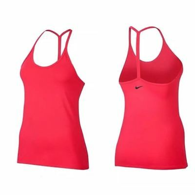 NEW Nike Dry Women's Slim Strappy Tank Top Fusion Red Training Yoga 839911 645