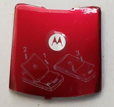 Lot Of 100 New Oem Motorola V3 Battery Doors (Red)