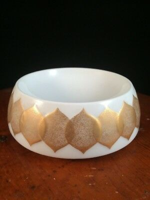 Vtg Rosenthal Bowl Gold Form Lotus Made in Germany Bjorn Wiinbald China