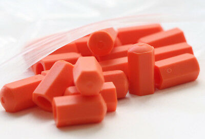 Orange Industrial Safety Bolt Thread covers for T-Bolt hose clamps by CLAMP-AID