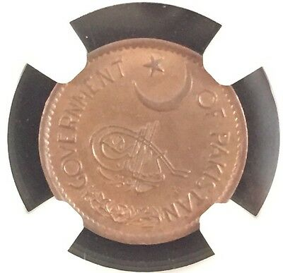 1951 Pakistan Pie Ngc Ms65 Brown Pop.2