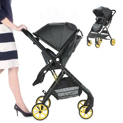 Allis 2in1 Pushchair City Buggy Baby Pram Newborn Ultralight Stroller - Denim