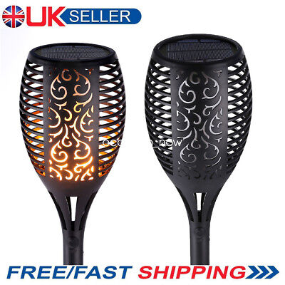 true flame Solar Torch Light Warm white LED  flickering  flame stake garden