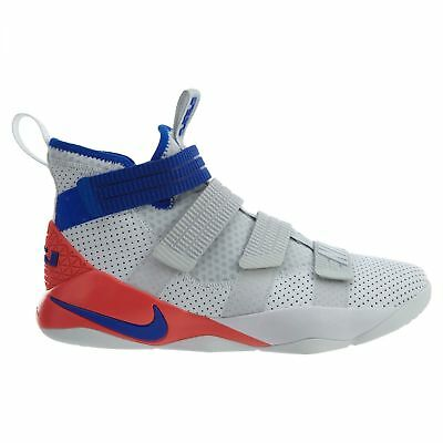 buy online 2e8ad f82ad NIKE LEBRON SOLDIER XI SFG MEN 897646-101 WHITE RACER BLUE-INFRARED Size