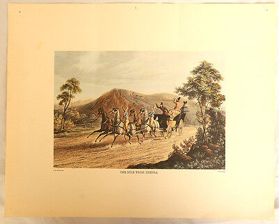 'one Mile From Gretna' (Green) Antique Victorian Aquatint - C B Newhouse