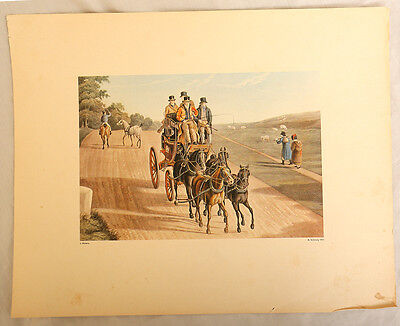 Antique Victorian Aquatint - J Watson And M Dubourg - Dated To 1824
