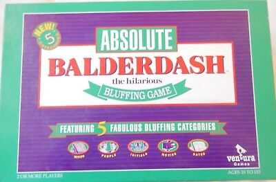 Absolute BALDERDASH Board Game The Hilarious Bluffing Game by  Ventura
