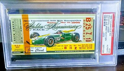 1966 Indy 500 Ticket Graham Hill Rookie Winner Ticket Psa 25711326