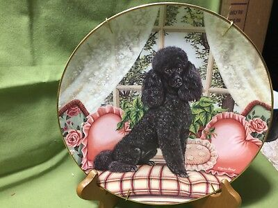 DANBURY MINT On Good Behavior PLATE FROM CHERISHED POODLES COLLECTION Number